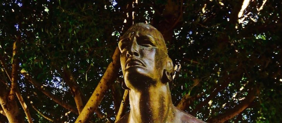 Busto de Hatuey en Baracoa Cuba