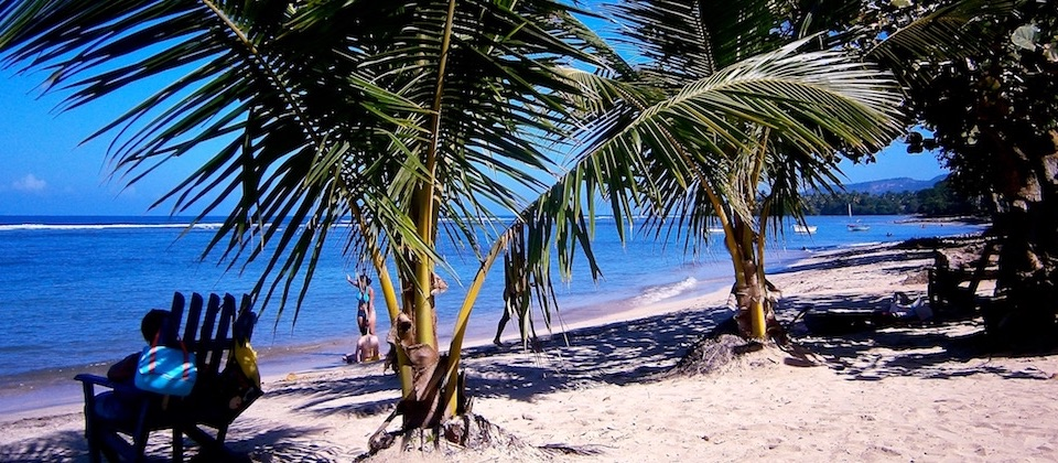 Playa El Manglito en Baracoa, Cuba