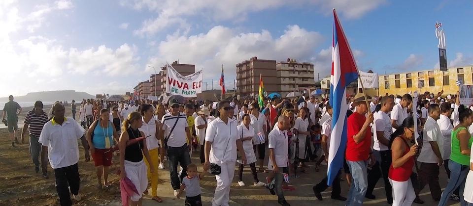 International Workers Day in Baracoa Cuba