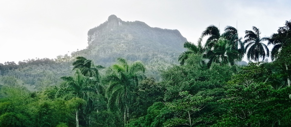 El Yunque seen from Duaba River, Baracoa Cuba