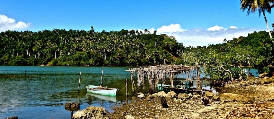 Small boats in Boca de Boma – Baracoa, Cuba