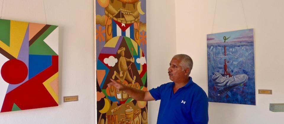 Rafael Joel Rey Barroso YOE en la Galería Eliseo Osorio de Baracoa Cuba