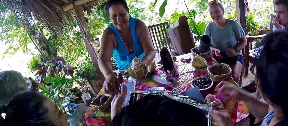 Tasting Ripe Cocoa Pulp Baracoa Cuba