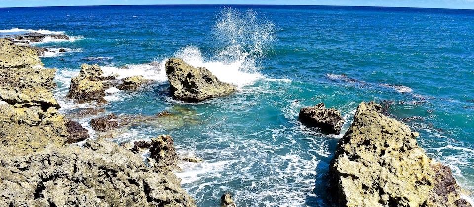 Rocas costa Nibujón Baracoa Cuba