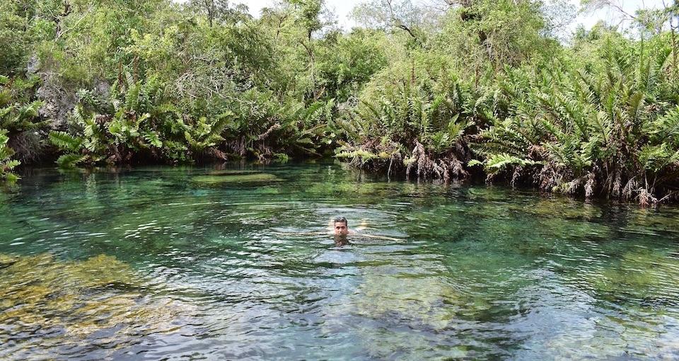 A bath in Pozo Azul • Punta de Maisi • Baracoa Cuba