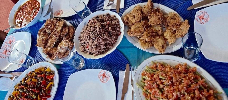 Fish Dinner at Villa Paradiso Baracoa Cuba • Cocina Cuisine