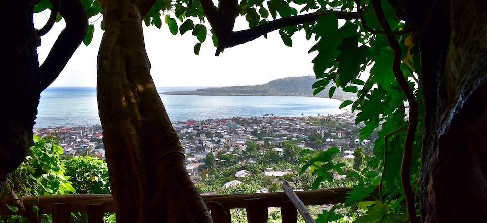 View of Miel Bay from Archaeological Museum • Baracoa Cuba
