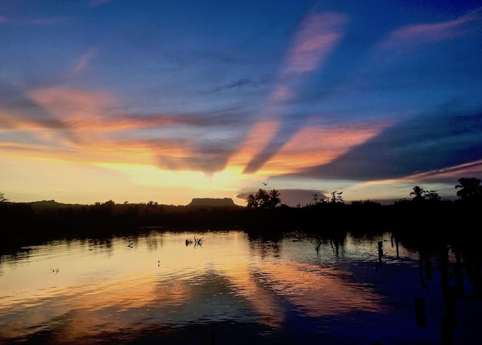 Sunset in Boca de Miel Baracoa Cuba